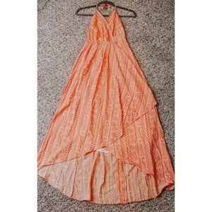 Halter backless dress